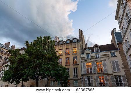 Old Buildings On The Ile De La Cite, Paris