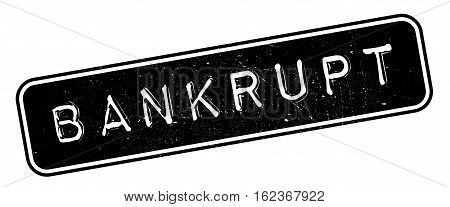 Bankrupt rubber stamp. Grunge design with dust scratches. Effects can be easily removed for a clean, crisp look. Color is easily changed.
