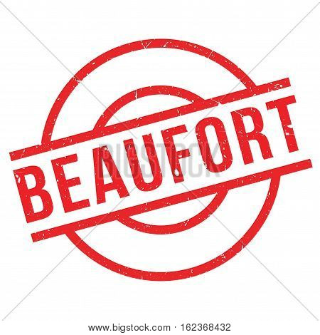 Beaufort rubber stamp. Grunge design with dust scratches. Effects can be easily removed for a clean, crisp look. Color is easily changed.