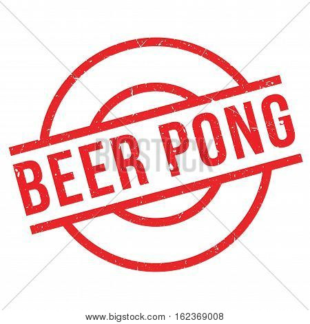 Beer Pong rubber stamp. Grunge design with dust scratches. Effects can be easily removed for a clean, crisp look. Color is easily changed.