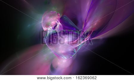 Colorful galaxy star clouds abstract background 3D