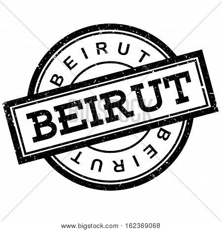 Beirut rubber stamp. Grunge design with dust scratches. Effects can be easily removed for a clean, crisp look. Color is easily changed.