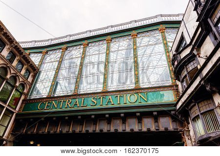 picture of the central station of Glasgow Scotland UK