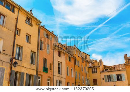 facades of old buildings in Aix-en-Provence South France