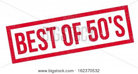 Best Of 50'S rubber stamp. Grunge design with dust scratches. Effects can be easily removed for a clean, crisp look. Color is easily changed.