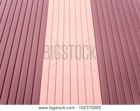 Corrugated metal wall texture and background, line pattern