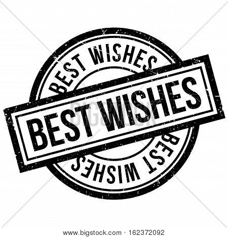 Best Wishes rubber stamp. Grunge design with dust scratches. Effects can be easily removed for a clean, crisp look. Color is easily changed.