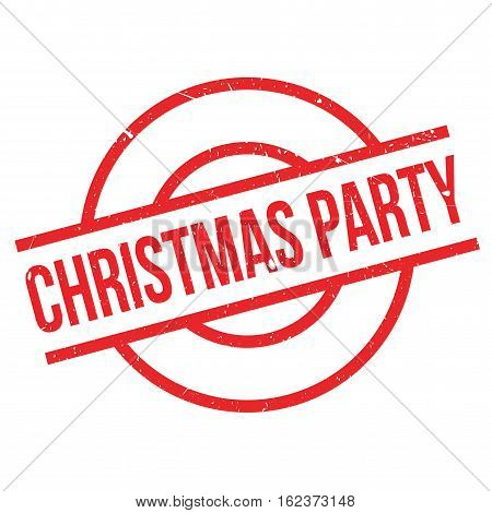 Christmas Party rubber stamp. Grunge design with dust scratches. Effects can be easily removed for a clean, crisp look. Color is easily changed.