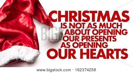 Christmas is not as much about opening our presents as opening our hearts