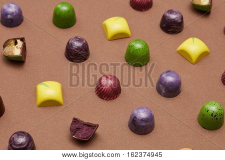 Colorful pattern of candies