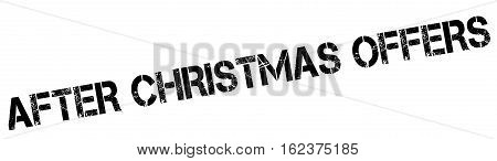 After Christmas Offers rubber stamp. Grunge design with dust scratches. Effects can be easily removed for a clean, crisp look. Color is easily changed.