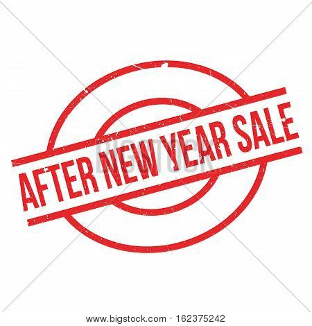 After New Year Sale rubber stamp. Grunge design with dust scratches. Effects can be easily removed for a clean, crisp look. Color is easily changed.