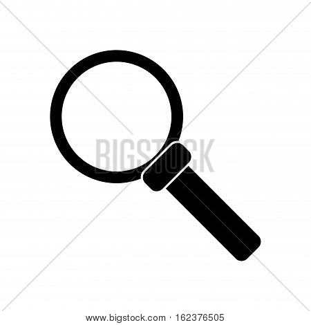 silhouette search loupe magnifier tehcnology vector illustration eps 10