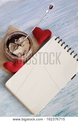 Dessert Tiramisu In A Jar With Notebook