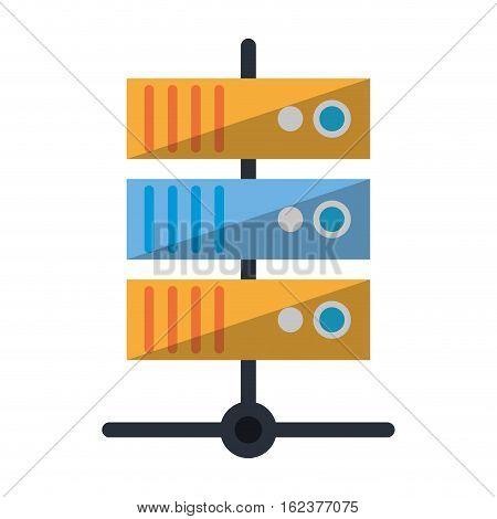 data base technology server system vector illustration eps 10