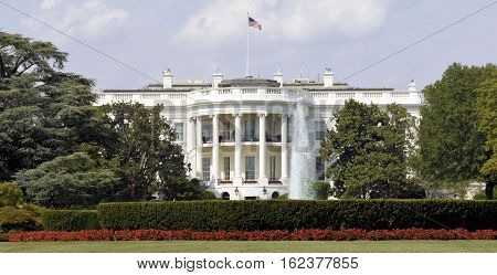 The White House located in Washington, DC