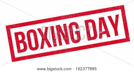 Boxing Day rubber stamp. Grunge design with dust scratches. Effects can be easily removed for a clean, crisp look. Color is easily changed.