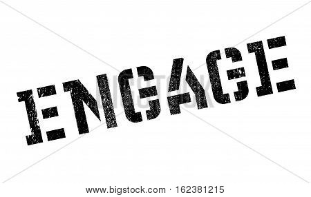 Engage stamp. Grunge design with dust scratches. Effects can be easily removed for a clean, crisp look. Color is easily changed.