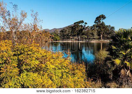 Lake Murray in the fall season in San Diego, California.