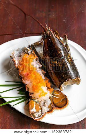 lobster sashimi groumet japanese cuisine