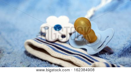 Blue baby pacifie toy for sleep dummy