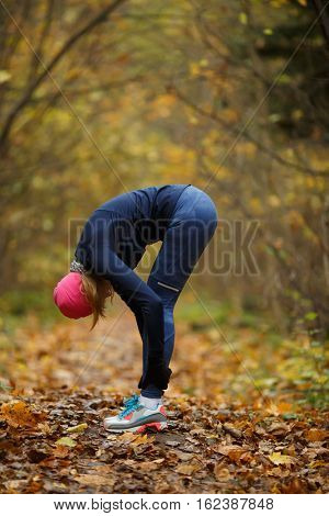 Young girl engaged in sports