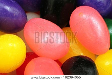 A full frame image of assorted colorful jelly beans