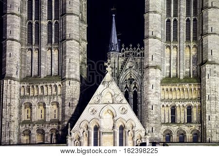 Lincoln Cathedral In Great Britain Night View