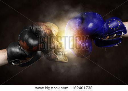 Symbol of the Fight Europe vs. Terror