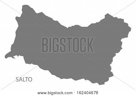 Salto Uruguay Map in grey department silhouette illustration