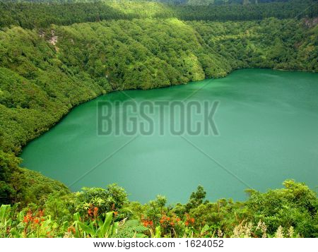 azores lake of sao goncalo in sao miguel island poster