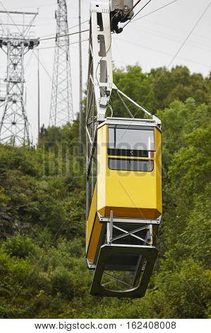 Ulriken cable railway. Norwegian tourism highlight. Transportation. Bergen