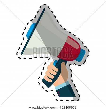 Bullhorn announce device icon vector illustration graphic design