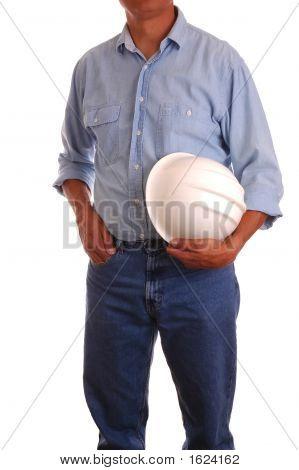 Man Holding Hardhat