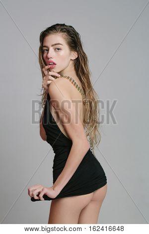 Pretty Girl In Short Dress
