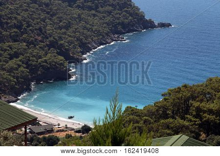 Kabak Bay in Faralya, Oludeniz, Fethiye, Turkey