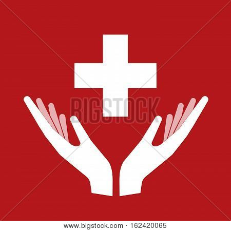 Isolated Hands Offering   The Swiss Flag