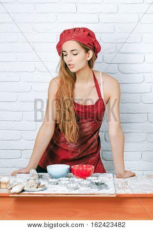 Pretty Gril Cute Chef Cook