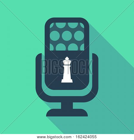 Long Shadow Microphone  With A  King   Chess Figure