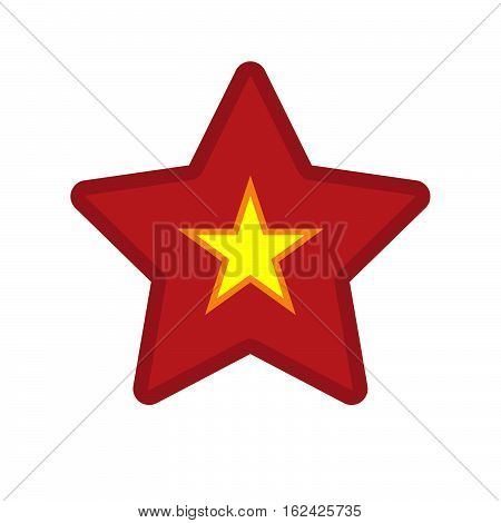 Isolated Star With  The Red Star Of Communism Icon