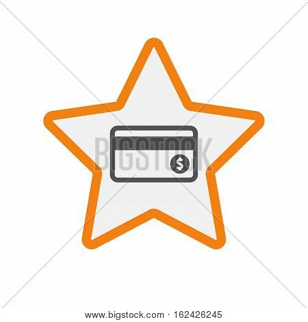 Isolated Star With  A Credit Card