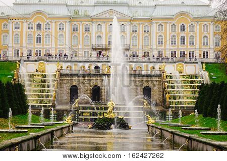 Fountains At The Peterhof Garden