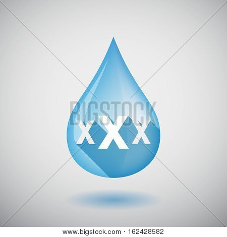 Isolated Water Drop With  A Xxx Letter Icon