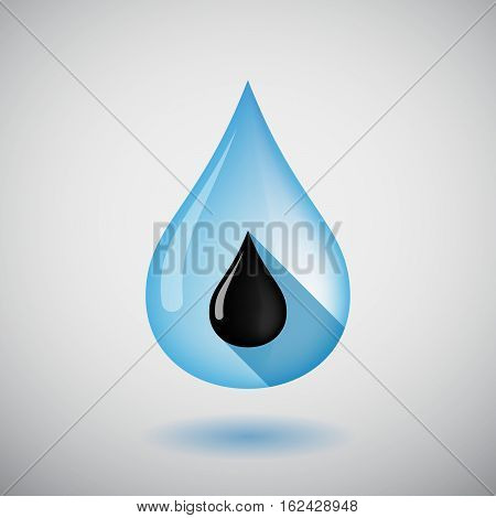 Isolated Water Drop With  An Oil Drop Icon