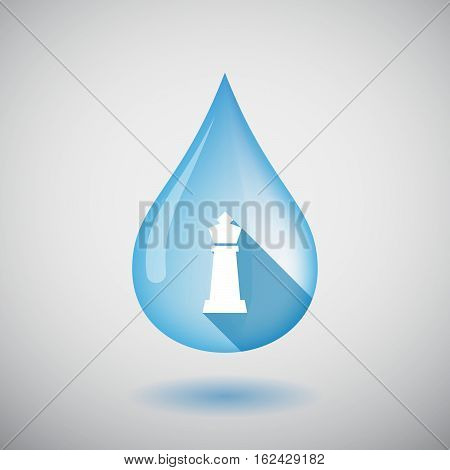 Isolated Water Drop With A  King   Chess Figure