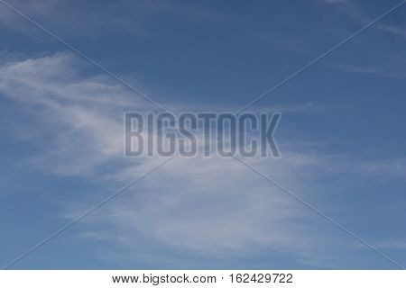 Beautiful clear blue sky thin white clouds float beautiful movement.