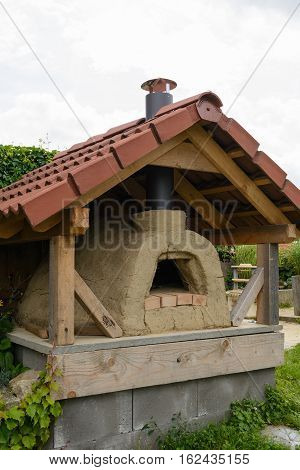 Nostalgic bakery outdoors - close-up stone oven