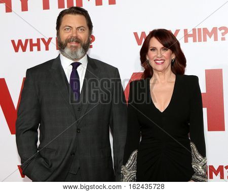 LOS ANGELES - DEC 17:  Nick Offerman, Megan Mullally at the