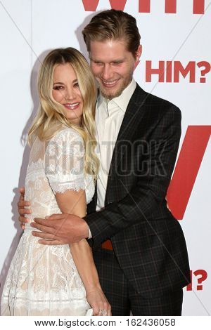 LOS ANGELES - DEC 17:  Kaley Cuoco, Karl Cook at the