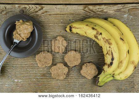 Freshly Cooked Cookies With Ingredients